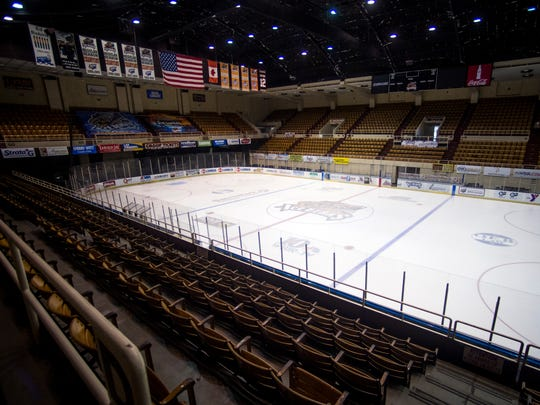 The Knoxville Ice Bears ice rink inside of the Knoxville Coliseum on Monday, February 12, 2018.