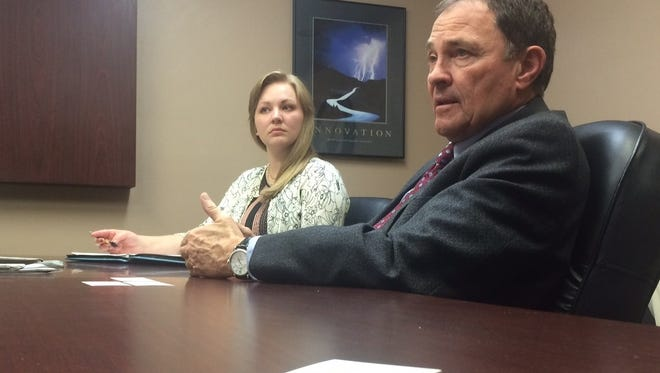 Gov. Gary Herbert visited the Spectrum Media offices on Thursday and answered questions about state lands, the Lake Powell Pipeline and the 2016 election cycle.