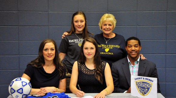 Polk County senior Ashley Love has signed to play college soccer for Emory & Henry (Va.).
