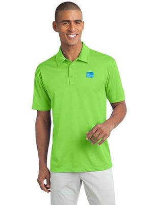 A model samples a Norwegian Cruise Line-branded shirt available at the new NorwegianShop.com website.