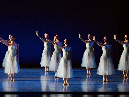 """George Balanchine's """"Serenade,"""" seen here in a 2008 Cincinnati Ballet performance, is one of America's most-loved and best-known ballets. For the February 8-11, 2018 Music Hall performances, it will be paired with the regional premiere of choreographer Nicolo Fonte's """"Carmina Burana."""" Carl Orff's memorable score will be performed by the Cincinnati Symphony Orchestra and the May Festival Chorus."""