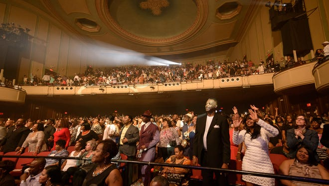 A file photo of a crowd at the Auditorium Theatre in 2014.