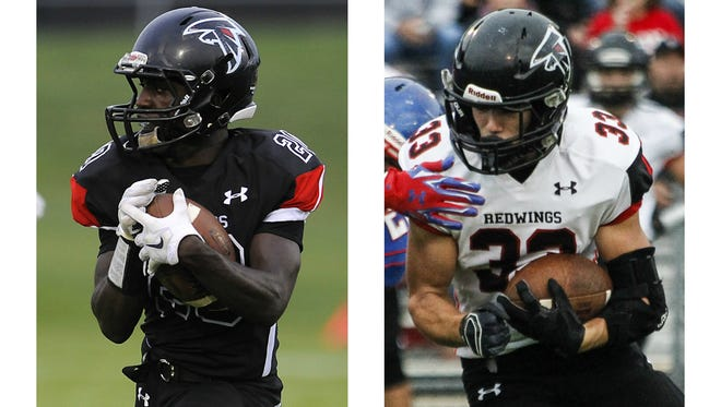 Steven Linton, left, and Blake Stewart have combined to rush for near 1,500 yards and 18 TDs for St. Johns.