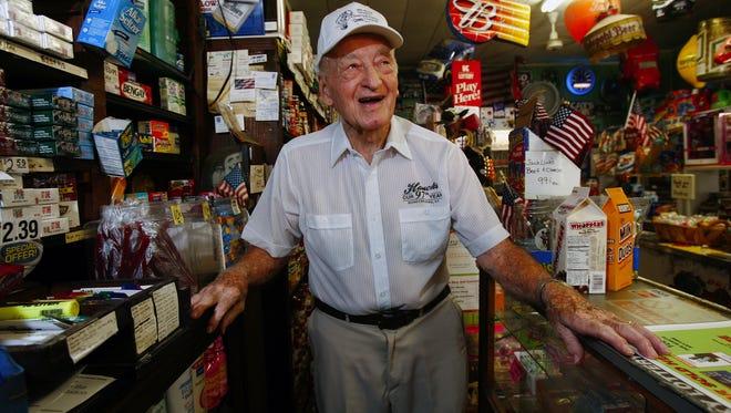 Two-time Schnitzelburg #1 Citizen George Hauck is shown in 2008 in Hauck's Handy Store, 1000 Goss Ave.