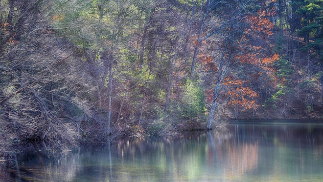 """Melanie Briggs of Carroll Valley submitted this photo to the Evening Sun Nature and Scenery gallery Nov. 21. Briggs writes, """"Lake at Pine Grove Furnace State Park in the Fall"""""""