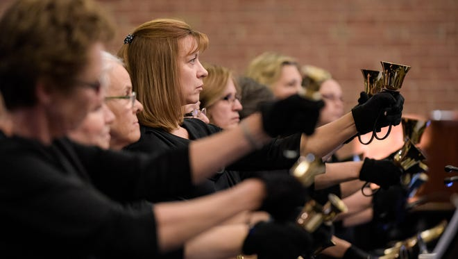 """The Wilmington Handbell Ensemble, founded in 2000 and the only community-based handbell ensemble in Wilmington, presents """"Warming Winter's Chill"""" as part of its winter concert series with a special Twelfth Night Concert at the Ebenezer United Methodist Church in Millford Crossroads on Sunday."""