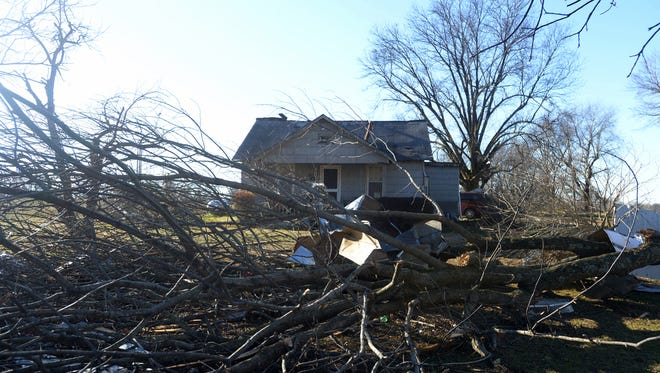 The home where Tim Kail and Mary Hammock live suffered damage after strong storms passed through Crockett County on Tuesday evening.