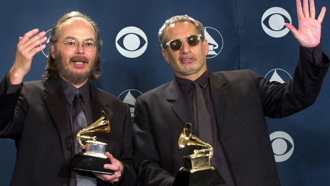 Steely Dan's Walter Becker, left, and Donald Fagen play the Auditorium Theatre on Oct.8.