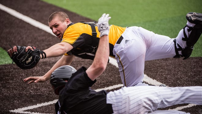 Catcher Daulton Varsho was named the Horizon League Most Valuable Player at the University of Wisconsin-Milwaukee his sophomore year.