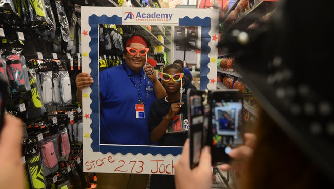 Academy Sports + Outdoors hosted a private youth shopping spree event with 30 children from the Boys & Girls Club of Jackson, Thursday, September 15, 2016. The store opens Friday, September 16 at 8:30am. The first 150 customers in line to show they are a fan of one of the store's social media sites will receive a mystery gift card.