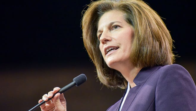 At the Washoe County Democratic Convention, Catherine Cortez Masto was the keynote speaker. She is running to replace U.S. Senator Harry Reid.