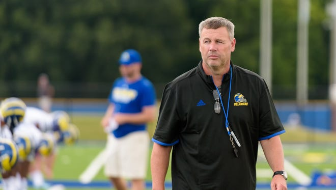UD's first football practice for the 2015-2016 season. Dave Brock, Head Coach. DOUG CURRAN/SPECIAL TO THE NEWS JOURNAL