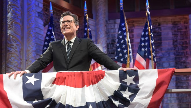 With the presidential election up in the air, 'The Late Show's' Stephen Colbert hosted a live election special Tuesday on Showtime.