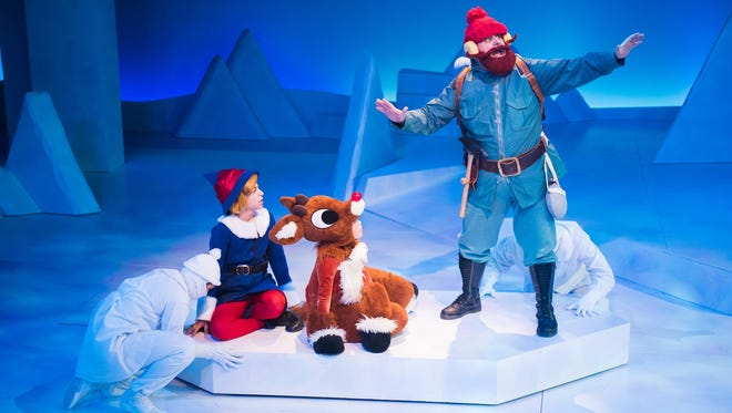 "Zach Duckler, Jack Trettin and Drew Brhel perform in ""Rudolph the Red-Nosed Reindeer: The Musical."""