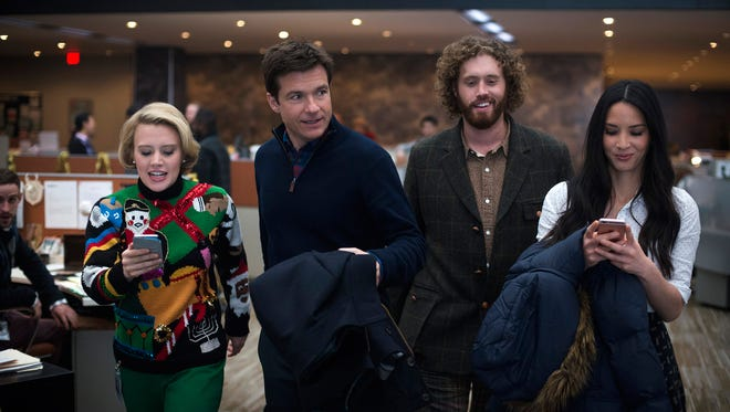 "Kate McKinnon, Jason Bateman, T.J. Miller and Olivia Munn star in ""Office Christmas Party."""