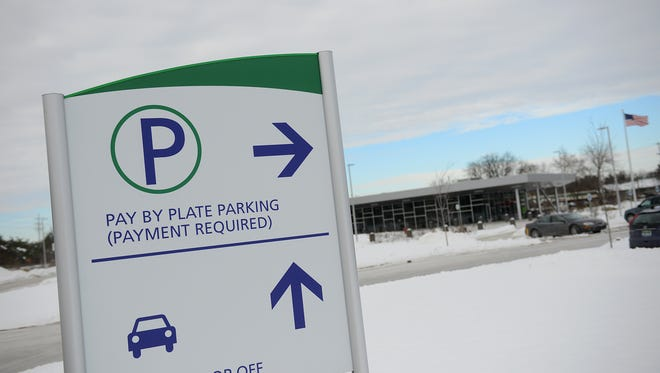 One of the parking signs at the Capital Area Multimodal Gateway pictured on Tuesday, Dec. 20, 2016.