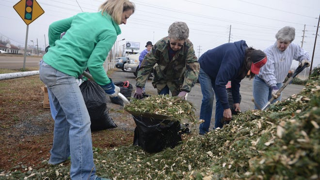 The 30th Annual Chipping of the Green took place Saturday, Jan. 14, 2017 at the Fire Department Training Station. Hundreds trees were turned to multch for people to pick up. The event is a project put on by the West Tennessee Master Gardener volunteers and the Keep Jackson Beautiful Commission.