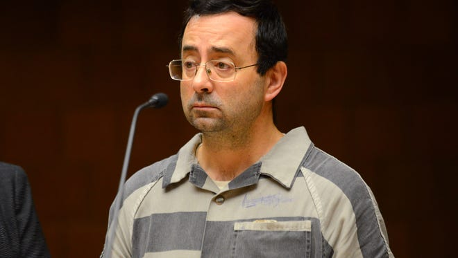 Larry Nassar appears in court on Friday, Jan. 20, 2017 during a motion hearing at the 55th District Court in Mason. Nassar is facing three counts of first-degree criminal sexual conduct with a person younger than 13.