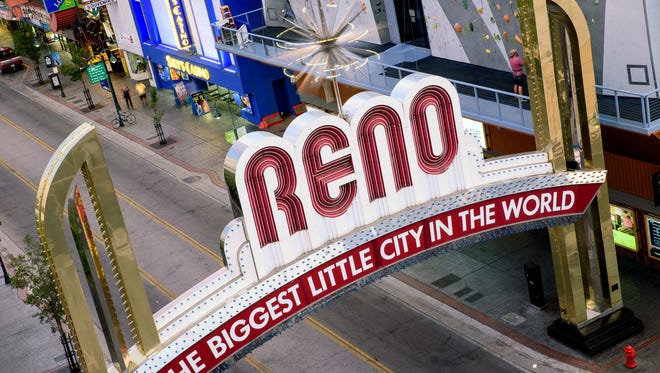 An ambitious five-year plan is testing the mettle of the Reno-Sparks Convention & Visitors Authority. RGJ file photos Reno Arch during the day 2015.