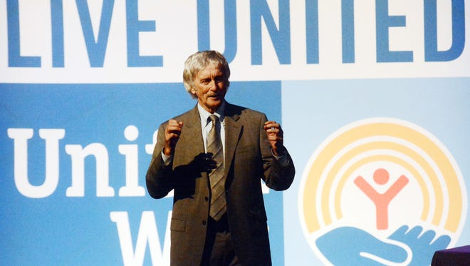 Education advocate and Communities in Schools founder Bill Milliken speaks during the 2017 United Way of York County Campaign Kick Off at the Strand-Capitol Performing Arts Center Tuesday, Aug. 29, 2017. Bill Kalina photo