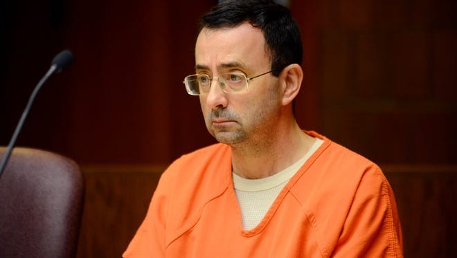 Larry Nassar is scheduled to be sentenced in January on 10 sexual assault charges.