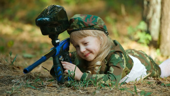If you child is going to play paintball, make sure they were a mark or goggles to avoid eye injury.