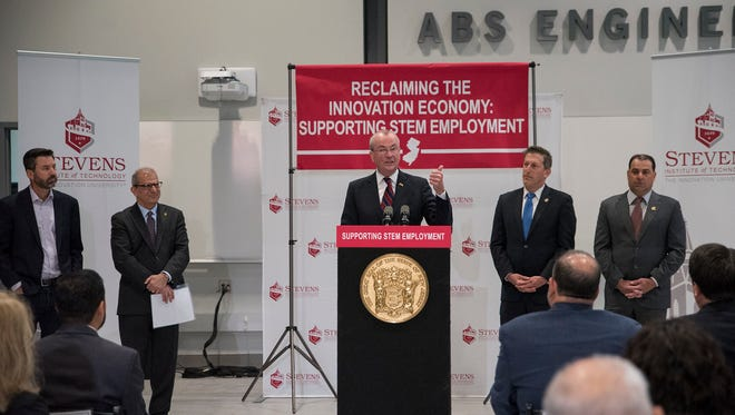 Gov. Phil Murphy announces STEM loan forgiveness plan at Stevens Institute of Technology in Hoboken on May 29, 2018