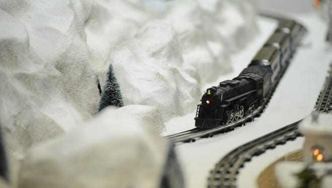 Visitors can participate in a scavenger hunt at the Christmas Model Train Display created by the future Transportation Museum of the World featuring the Miniature World of Trains in downtown Greenville.