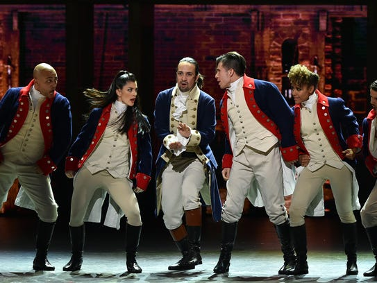 Lin-Manuel Miranda and the cast of Broadway's'Hamilton'