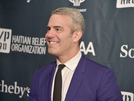 Andy Cohen attends a benefit dinner on May 5, 2017,