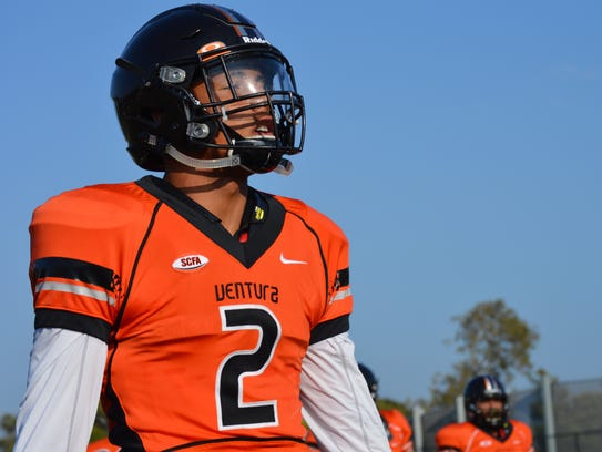 Returning all-conference safety Alvin Pacheco warms