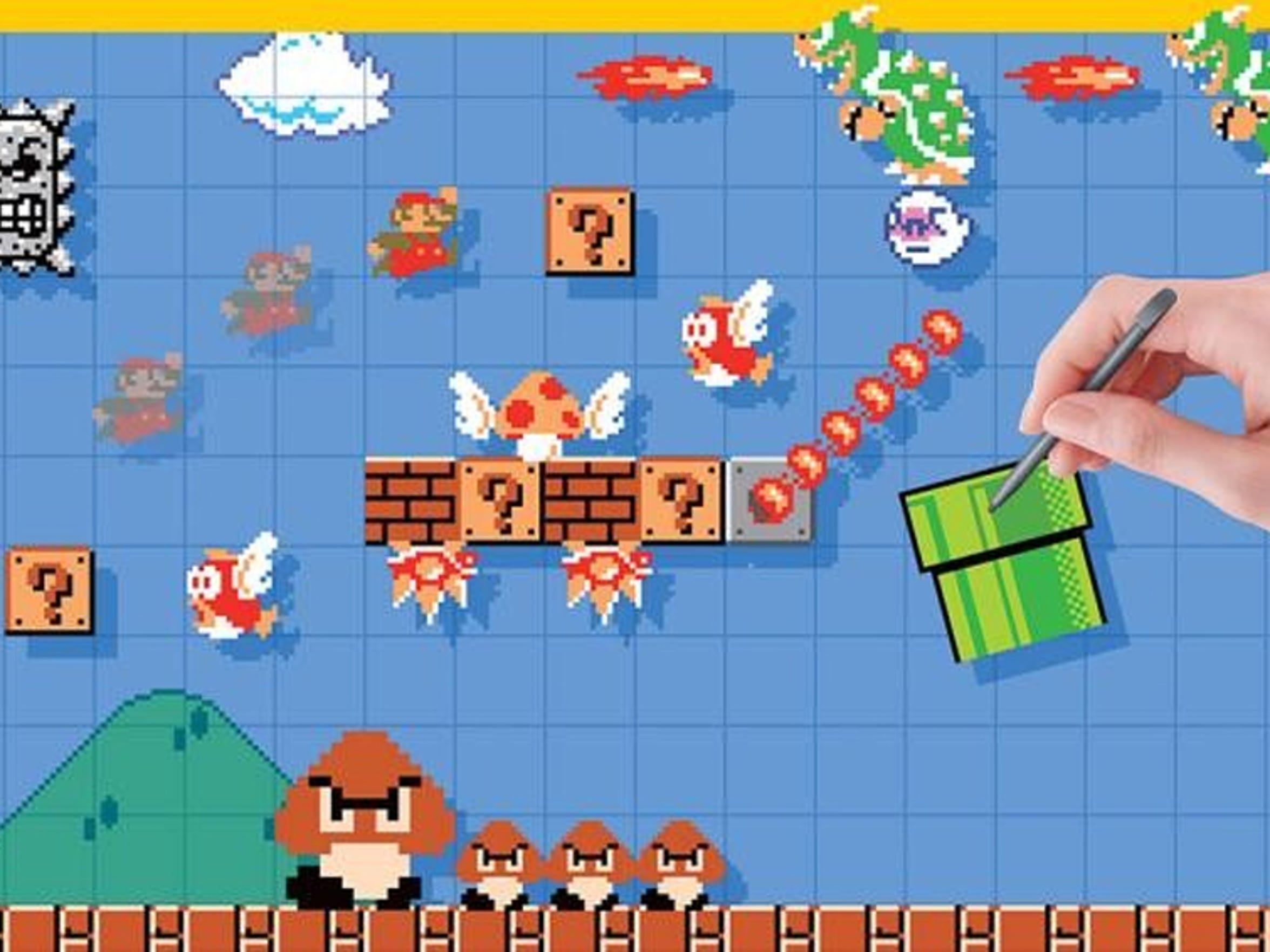 """""""Super Mario Maker"""" also lets you recreate old 8-bit Mario levels with a twist."""