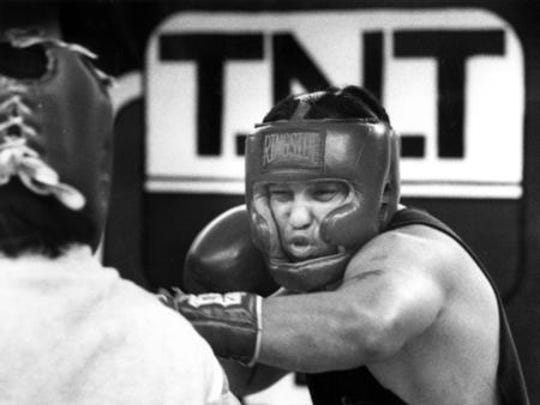 13 FEB 1992 - Herman Delgado, a heavyweight boxer, will carry a 124-14 amateur record into the West Texas Regional Golden Gloves Boxing Tournament that begins today.