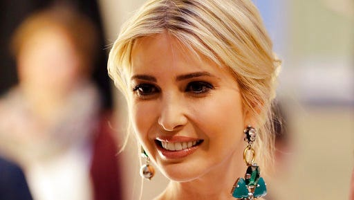 Ivanka Trump, daughter and adviser of U.S. President Donald Trump, arrives for a dinner after she participated in the W20 Summit in Berlin Tuesday, April 25, 2017.