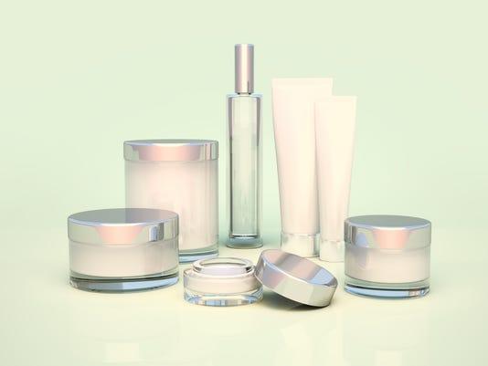 Daily, beauty care cosmetic. Face cream, eye cream.