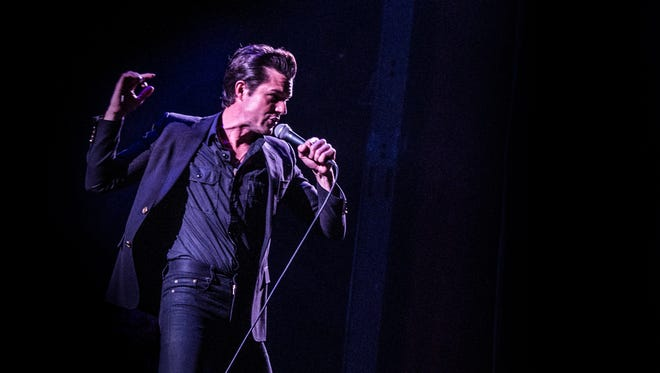 Brandon Flowers from The Killers performs at Tinderbox Festival in Funen, Denmark, in June 2017.