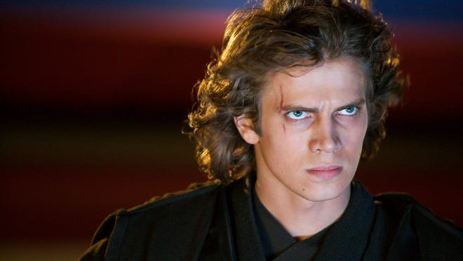 "Hayden Christensen as Anakin Skywalker. Christensen played the role in the movie ""Star Wars: Episode II - Attack of the Clones"" (2002) and reprised it again in ""Star Wars: Episode III - Revenge of the Sith"" (2005)"