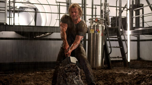 A thunder god (Chris Hemsworth) comes to Earth to prove
