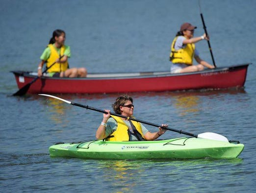 At <b>Eagle Creek Reservoir</b>, the marina offers guided evening paddle trips on Wednesdays from 6 to 8 p.m. Call the marina at at (317) 327-7130 to register.