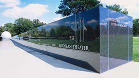 The World War II Illinois Veterans Memorial at Oak Ridge Cemetary.