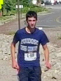 Ruidoso High School senior Tyler Haas is seen here taking fifth place overall at the Run in the Clouds 10K in Cloudcroft.