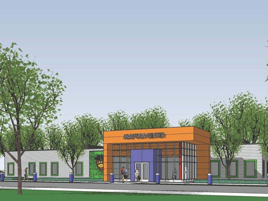 This rendering shows the new animal shelter planned