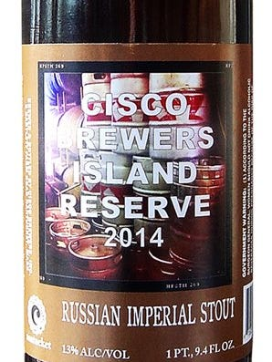 Cisco Russian Imperial Stout from Cisco Brewers in Nantucket, Mass., is 13% ABV.