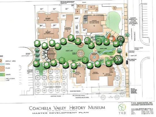 The master plan for the Coachella Valley History Museum.