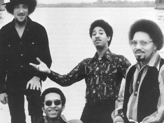 The music of The Meters, from left to right, guitarist Leo Nocentelli, bassist George Porter Jr., drummer Zigaboo Modeliste, and keyboardist Art Neville, will be played on May 20 at the Hall at MP in Brooklyn. Porter and Modeliste will be among the performers.