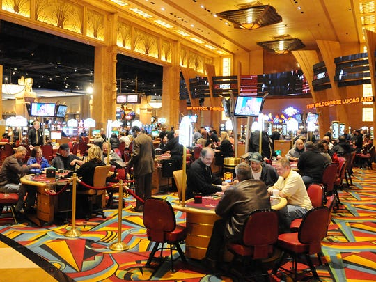 This is a view of the table games at Hollywood Casino.