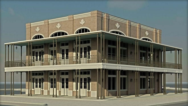 This is an artist's rendering of the building that will be constructed to house Sal & Mookie's at Livingston.