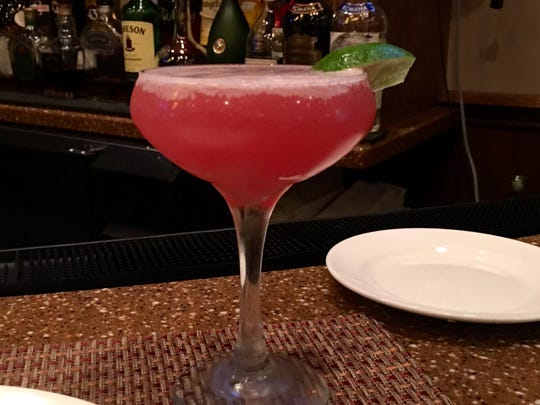 The Caribbean Cosmo from Water and Wine Ristorante.