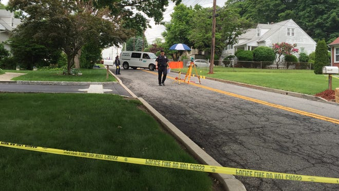 The medical examiner's van leaves the scene of  pedestrian fatality on South Road in Greenburgh on June 9.