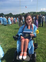 Anna Landre at her graduation from Freehold  Township High School in 2017
